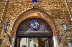 Palermo, Italië, Sicilië 24 Augustus 2015 Palazzodei Normanni, is de zetel van de regionale raad en het voorzitterschap van het g stock foto