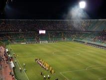PALERMO, ITALIA - 17 agosto 2013 - Di Palermo degli Stati Uniti Citta contro la Grecia Verona - TAZZA di TIM Fotografia Stock Libera da Diritti