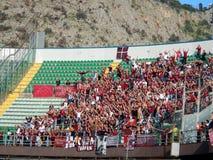 PALERMO, ITALIA - 9 de noviembre de 2013 - di Palermo de los E.E.U.U. Citta contra Trapan Calcio - Serie B Imagen de archivo libre de regalías