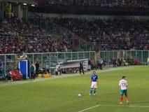 Palermo, Italia - 2013, el 6 de septiembre - Italia contra Bulgaria - la FIFA calificador de 2014 mundiales Imagen de archivo libre de regalías