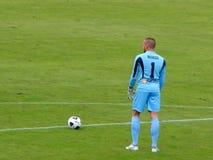 PALERMO, ITALIA - 9 novembre 2013 - Di Palermo degli Stati Uniti Citta contro Trapani Calcio - Serie B Fotografia Stock