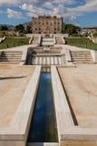 PALERMO, ITALIA - 14 ottobre 2009: Lo Zisa è un castello in più pallido Immagini Stock Libere da Diritti