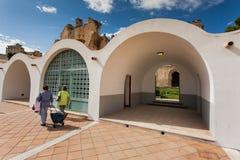 PALERMO, ITALIA - 14 ottobre 2009: Lo Zisa è un castello in più pallido Immagine Stock Libera da Diritti