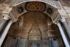 PALERMO, ITALIA - 14 ottobre 2009: Lo Zisa è un castello in più pallido Fotografia Stock Libera da Diritti