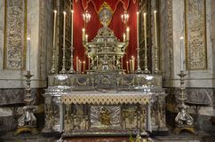 Palermo, Italia, Sicilia 24 agosto 2015 La cattedrale di Palermo Immagine Stock Libera da Diritti