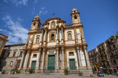 Palermo, Italia, Sicilia 24 de agosto de 2015 La iglesia de San Domingo Fotografía de archivo