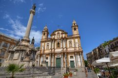 Palermo, Italia, Sicilia 24 de agosto de 2015 La iglesia de San Domingo Foto de archivo libre de regalías