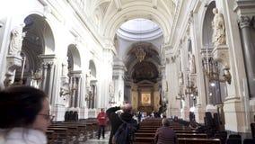 PALERMO ITALIEN - April, 2018: Palermo domkyrka materiel Domkyrkakyrka av Roman Catholic Archdiocese av Palermo arkivfilmer