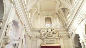 PALERMO ITALIEN - April, 2018: Palermo domkyrka materiel Domkyrkakyrka av Roman Catholic Archdiocese av Palermo stock video