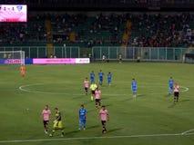 PALERMO ITALIEN - Augusti 31, 2013 - di Palermo för USA Citta vs Empoli FC - Serie B Arkivbild