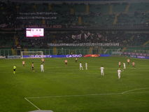PALERMO ITALIEN - Februari 22, 2014 - di Palermo för USA Citta vs Spezia Calcio - Serie B Eurobet Fotografering för Bildbyråer