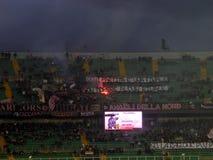PALERMO ITALIEN - Februari 22, 2014 - di Palermo för USA Citta vs Spezia Calcio - Serie B Eurobet Arkivbilder