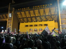 PALERMO ITALIEN - Maj 3, 2014 - di Palermo för USA Citta firar befordran till Serie A Royaltyfri Bild