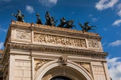 PALERMO ITALIEN - Oktober 14, 2009: Den Politeama Garibaldi theaten Royaltyfria Foton
