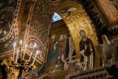 PALERMO ITALIEN - Oktober 13, 2009: kyrka av Santa Maria dell` f.m. Royaltyfri Fotografi