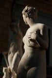 PALERMO ITALIEN - Oktober 13, 2009: Marmorstaty av piazza Preto Arkivbilder