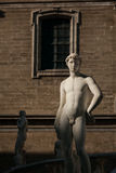 PALERMO ITALIEN - Oktober 13, 2009: Marmorstaty av piazza Preto Arkivbild