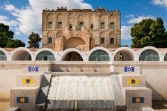 PALERMO ITALIEN - Oktober 14, 2009: Zisaen är en slott i mer blek Arkivfoton