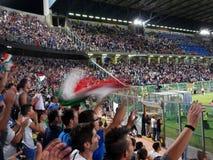 Palermo Italien - 2013, September 06 - Italien vs Bulgarien - FIFA bestämning för 2014 världscup Arkivbilder