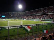 Palermo Italien - September 06, 2013 - Italien vs Bulgarien - FIFA bestämning för 2014 världscup Arkivbilder