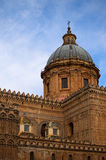 PALERMO, ITALY–03 January 2017: One of the main attractions of city - Palermo Cathedral. Royalty Free Stock Photo