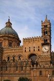 PALERMO, ITALY†'03 2017 Styczeń: Jeden główni przyciągania miasto - Palermo katedra Zdjęcie Stock
