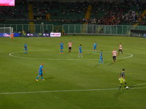 PALERMO, ITALY - August 31, 2013 - US Citta di Palermo vs Empoli FC - Serie B Royalty Free Stock Photography