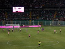 PALERMO, ITALY - August 11, 2013 - US Citta di Palermo vs US Cremonese - TIM CUP Royalty Free Stock Images