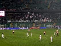 PALERMO, ITALY - February 22, 2014 - US Citta di Palermo vs Spezia Calcio - Serie B Eurobet Royalty Free Stock Images