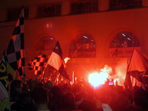 PALERMO, ITALY - May 3, 2014 - US Citta di Palermo celebrate promotion to Serie A Royalty Free Stock Photos