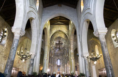 Palermo, Italy - May 22, 2015 - Wedding ceremony in the church La Magione in Palermo, Italy. Stock Image