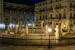 PALERMO, ITALY - October 13, 2009: Marble statue of Piazza Preto Royalty Free Stock Image