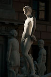 PALERMO, ITALY - October 13, 2009: Marble statue of Piazza Preto Royalty Free Stock Photography