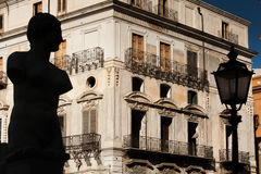 PALERMO, ITALY - October 13, 2009: Marble statue of Piazza Preto Royalty Free Stock Photos