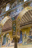 Column in the Palatine Chapel Stock Photo