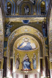 Christ Pantocrator Palatine Chapel Royalty Free Stock Photography
