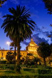 PALERMO, ITALY - October 13, 2009: view of the famous Royal Pala Stock Images