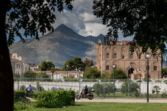 PALERMO, ITALY - October 14, 2009: The Zisa is a castle in Paler Royalty Free Stock Photos