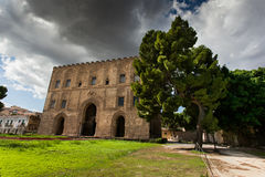 PALERMO, ITALY - October 14, 2009: The Zisa is a castle in Paler Royalty Free Stock Photography