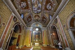 Palermo, Italy, Sicily August 24 2015. The sanctuary of Tindari royalty free stock image