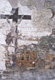 Graffiti in de kerkers van de Inquisitie in Palermo Royalty-vrije Stock Afbeeldingen