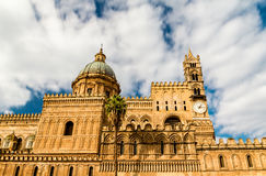 Palermo katedralny Zdjęcia Stock