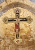 Palermo - Kreuz vom Hauptkirchenschiff der Romanic Kirche San Cataldo lizenzfreie stockbilder