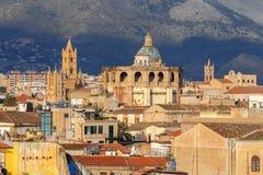 Palermo Luchtmening van de stad royalty-vrije stock afbeeldingen