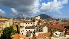 Palermo, a magnificent panorama of the city of Palermo, Italy stock photo