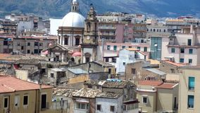Palermo, a magnificent panorama of the city of Palermo, Italy stock photos