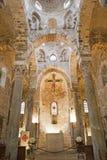 Palermo - Main nave of Romanic church San Cataldo Royalty Free Stock Photography