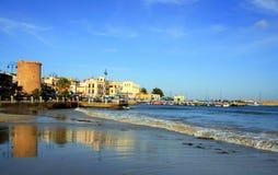 Palermo, Mondello fishing village. Sicily Stock Image