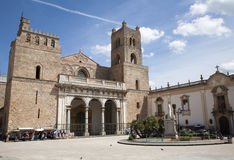Palermo - Monreale cathedral. Is dedicated to the Assumption of the Virgin Mary and is one of the greatest extant examples of Norman architecture in the world stock images