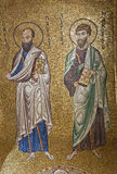 Palermo - Mosaic of apostle Paul and Jacob from in Church of Santa Maria dell' Ammiraglio Royalty Free Stock Images